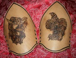 """angel and demon"" bracers by Shattan"