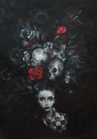 Skulls and Roses by AmethReverie