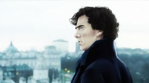 Sherlock and the London view by AzurLazuly
