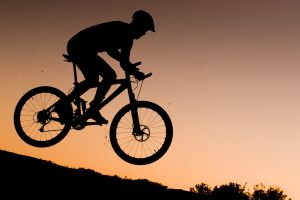 Downhill during sunset by atol