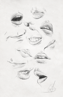 Mouths practice and reference sheet by StyrbjornA