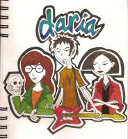 Daria, Jane, Trent..n a guitar by Jazil