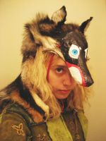Black Coyote Headdress by CindarellaPop