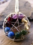 Element WireWrapped Pentacle by MoonLitCreations