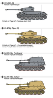 The Porsche VK 4501(P) / Tiger (P) Heavy Tank by tacrn1
