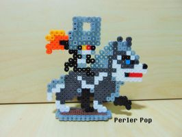 Wolf Link and Midna Sprite Perler by Perler-Pop