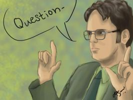 Dwight Question by RhythmAx