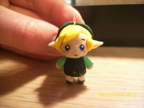 Polymer Clay Link Charm by AngecondaBite