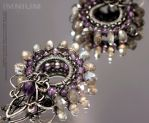 Harlequin earrings - detail by IMNIUM