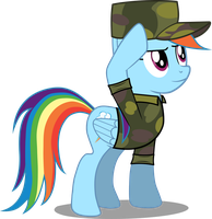 Rainbow Dash in uniform by ThedarkNimbus