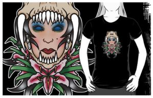 Sabretooth tiger lily tee shirt by yayzus