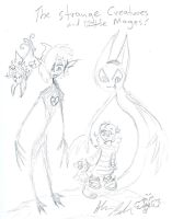 StrangeCreatures and little girls by Kittychan2005
