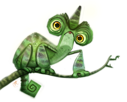 Day 740# Chameleon by Cryptid-Creations