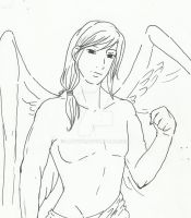 Azrael:: Lineart by LadyIfe