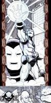 IRON MAN 2 Sketch Cards by RAHeight2002-2012