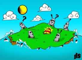 Happy Easter Island by H8orSaints