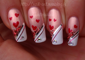 valentine's day nail art 5 by Tartofraises