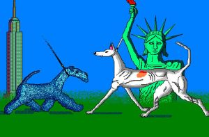 'Westminster Dog Show' in MS Paint by Cecilia-Schmitt