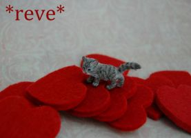 Handmade Miniature Kitten Sculpture by ReveMiniatures