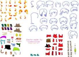 Sprite Sheet (UPDATED) by llemonllum