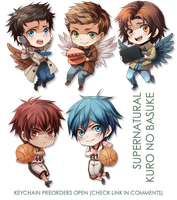 +Supernatural and Kuro no basuke KEYCHAINs+ by goku-no-baka