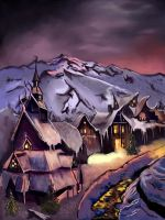 Village Snow by DarkPrincessLauren