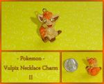 Pokemon - Vulpix Necklace Charm II by YellerCrakka