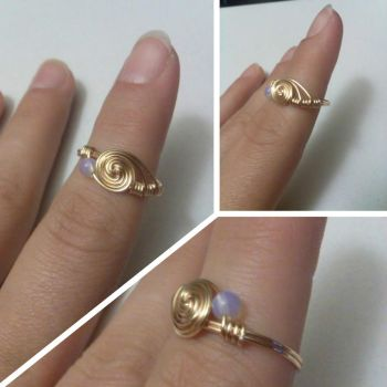Spiral Opalite Ring by iamdemic