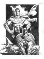 Superman and Batman by Jose Luis Garcia Lopez by Club-Batman