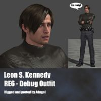 Leon RE6 Debug Outfit by Adngel