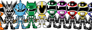 All PR-exclusive Rangers by myhaha1000
