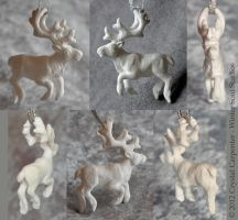 Caribou Ornament by soulofwinter
