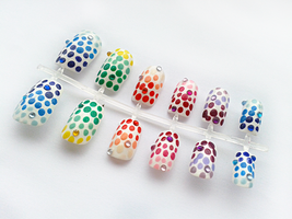 Rainbow Dots by nail-artisan