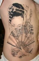 geisha tattoo by asussman