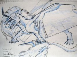 MFF-Arcticdragon sketch by ALRadeck