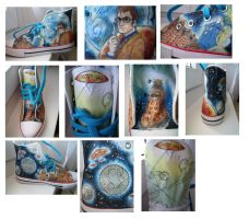 Doctor Who Fan Shoe - left one by Elbi-Maku