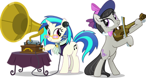 Old school Vinyl and Octavia by Vector-Brony