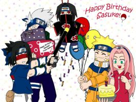 Sasuke's Birthday Pinata by ToonTwins