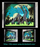 Queen Chrysalis Shadowbox by The-Paper-Pony
