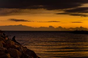 Fisher at Sunset by Tiris76