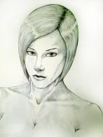 My wife sketch with Bic pen by Samaelt666