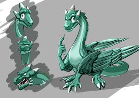 Ordian the Teal Dragon Request by smilingDOGZ