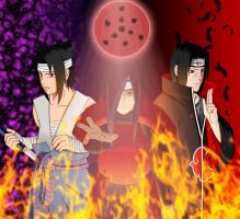 Uchiha power by Salty-art
