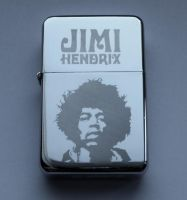 JIMI HENDRIX - engraved lighter by Piciuu