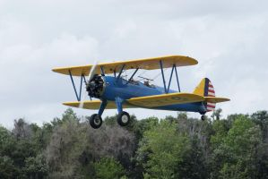 Stearman takeoff by Valder137
