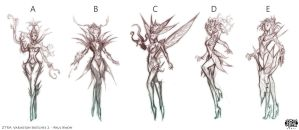 Zyra Ideation Sketches 2 by ZeroNis