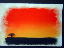 African Sunset by cow41087