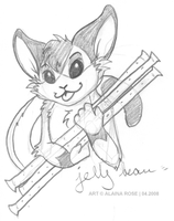 anthrosketcxch - azianwolfdoll by obliviousally