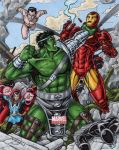 World War Hulk vs The Illuminati by tonyperna