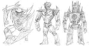 Giant Robot Sketches by rawjawbone